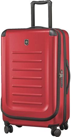 VICTORINOX SPECTRA 2.0 EXPANDABLE HARDSIDE SPINNER RED SUITCASE