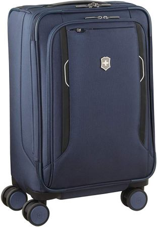 Victorinox Werks 6.0 Softside Carry-On Blue Suitcase