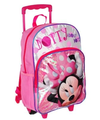 Disney 16-inch Minnie Mouse Rolling Backpack