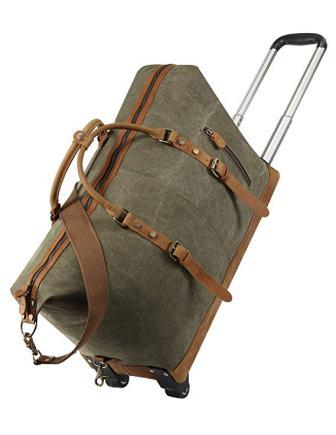 Kattee Luggage Rolling Duffel Bag