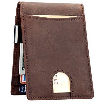 Pattern Of Fish 5 Slots RFID Blocking Passport Holder Theft Proof Leather Wallet for Men /& Women