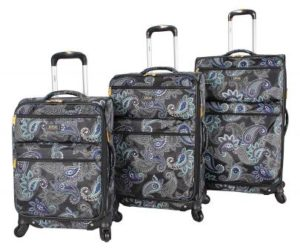 Lucas Designer Luggage Collection – 3 pc Softside Luggage Set