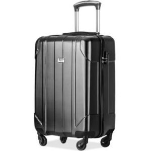 "Merax Hardside Spinner 24"" Checked Lightweight Suitcase"