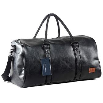 Oversized Leather Travel Duffel Bag from Seyfonica