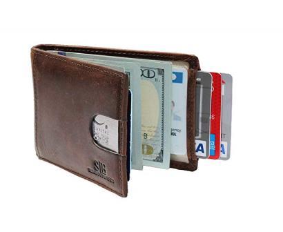 SERMAN BRANDS Slim Bifold Minimalist Wallet