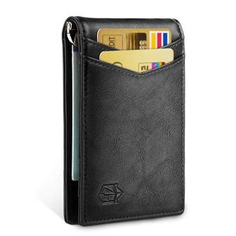Zitahli Minimalist Slim Bifold Wallet