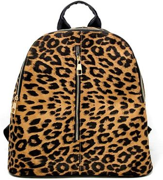 BY YOU WOMEN FASHION ANIMAL LEOPARD PRINT LARGE BACKPACK