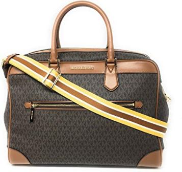MICHAEL KORS LEATHER DUFFLE WEEKENDER BAG