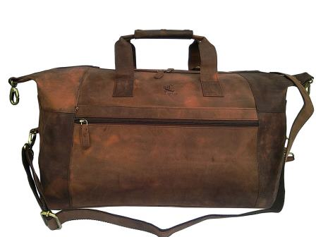 VINTAGE COUTURE LEATHER DUFFEL BAG