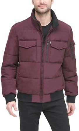 DKNY Men's Quilted Bomber Jacket