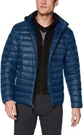 Men's Packable Down Hooded Coat from Calvin Klein