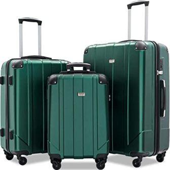 Merax 3-Pc Eco-friendly P.E.T Luggage Spinner Suitcase Set