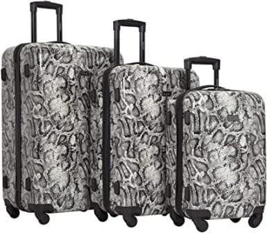 "Kensie 3 Piece ""Snake Skin"" Luggage Set"