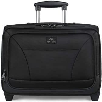 MATEIN Commute and Business Travel Laptop Rolling Briefcase