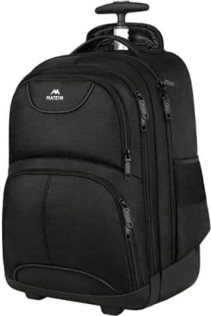 MATEIN Office/Student Backpack with Wheels for Laptops and Tablets