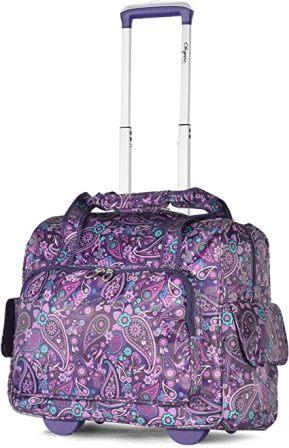 Olympia USA RT-3400 Deluxe Fashion-Forward Rolling Organizer Bag