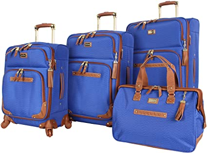 Steve Madden 4 Piece Softside Expandable Designer Luggage Collection