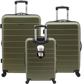Wrangler el Dorado Smart 3-Piece Luggage Set
