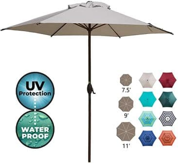 Abba Patio Sturdy and Rust-Resistant Patio Umbrella