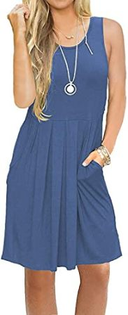 Auselily Knee Length Swing Dress