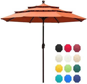EliteShade Multi-Tier Easy Open/Close Patio Umbrella