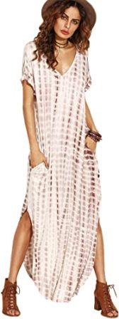 MakeMeChic – Women's Boho Tie Dye Maxi Dress