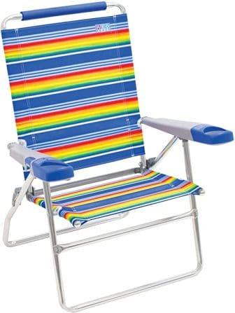 Rio Beach 15″ Extended Height 4-Position Beach Chair