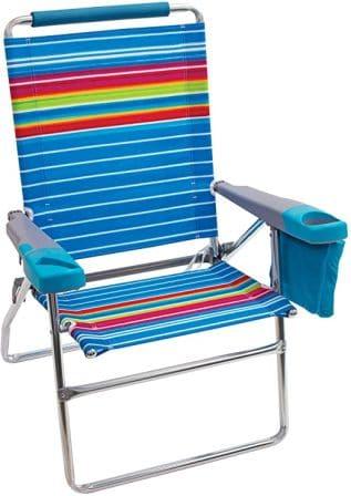 Rio Beach 17″ Extended-Height 4-Position Beach Chair