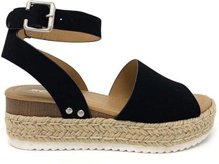 Soda Women's Ankle Strap Sandals